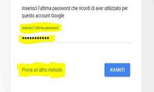 Recuperare la password del nostro account Gmail