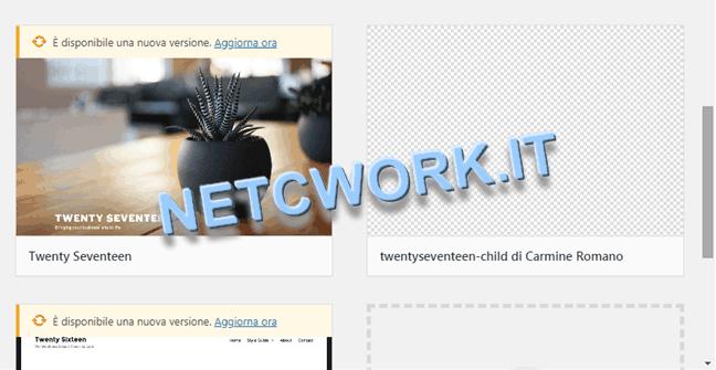 Creare un tema child per WordPress: immagine non visibile, aggiornare il browser!