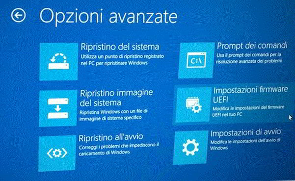 Come entrare nel bios di Windows 10