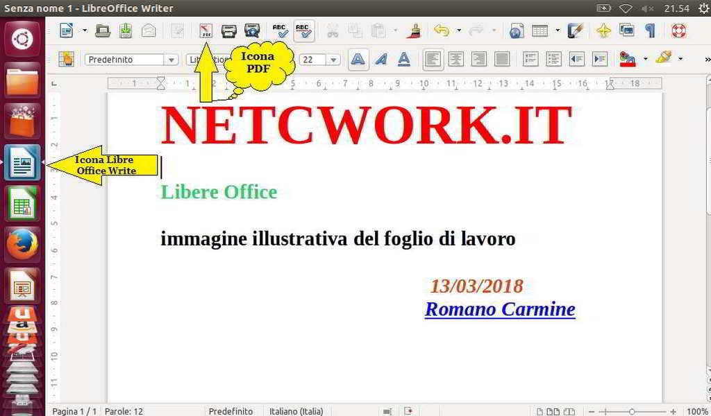 Come creare un file PDF con Ubuntu