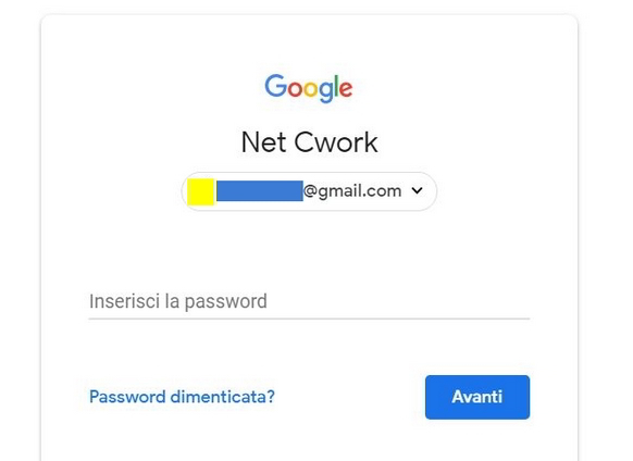 Recupero account Google Gmail