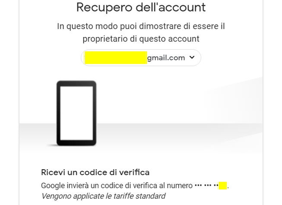 Come recuperare un account Gmail via SMS