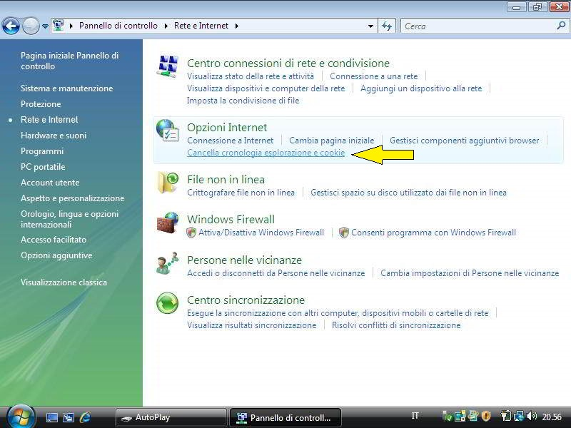Come eliminare i cookie di Internet Explorer in Windows Vista