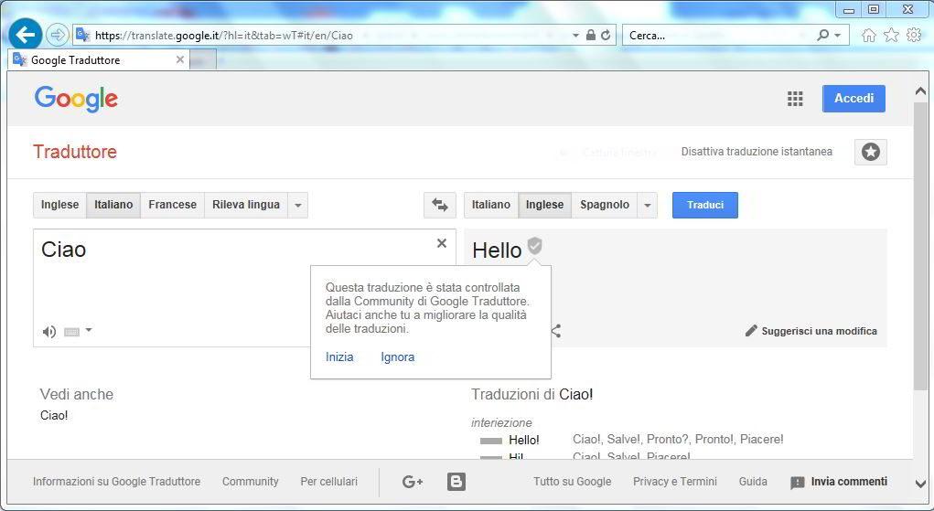 Come tradurre del testo con Google Chrome