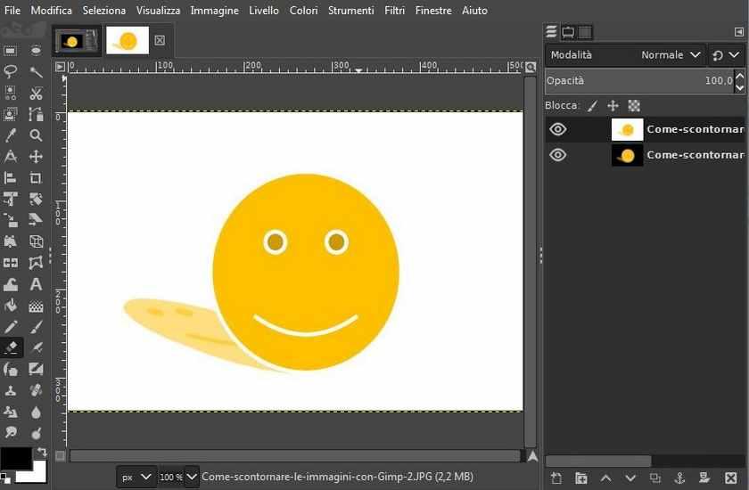 Come rimuovere lo sfondo delle immagini con Gimp