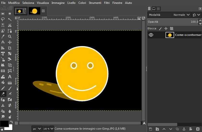 Come scontornare le immagini con Gimp