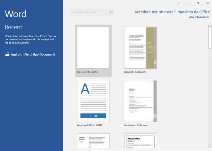 Come creare un catalogo in Word 2016