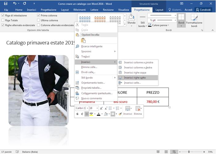 Come creare un catalogo con Word