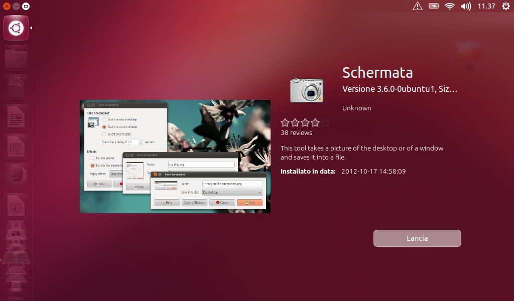 Come fare il fermo immagine in Linux Ubuntu