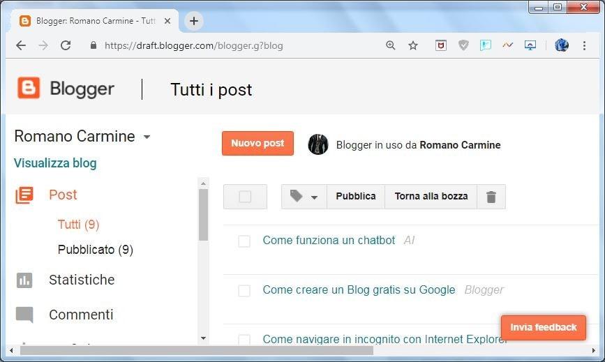 Blog su Blogger