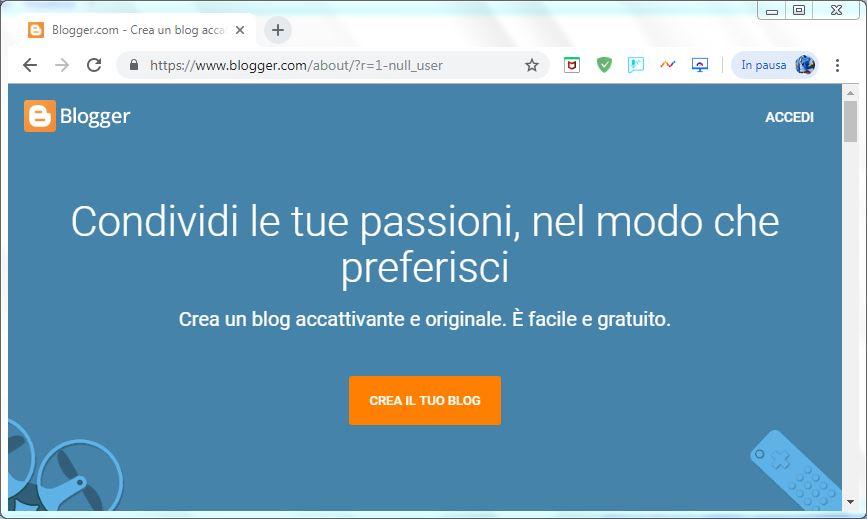 Come creare un blog su Google