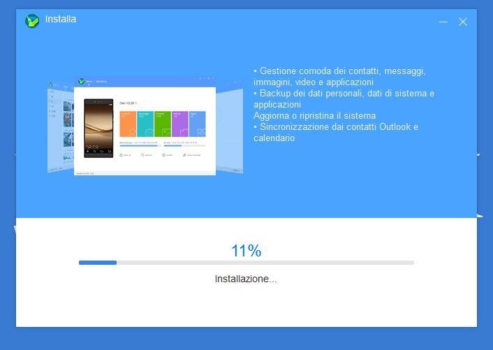 installazione Hisuite sul PC