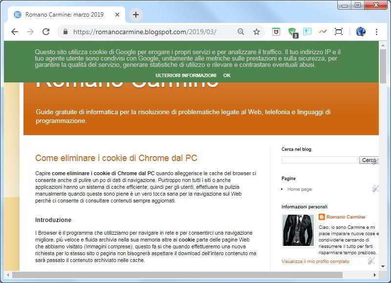 Come cambiare il colore di sfondo del banner per i cookie in Blogger