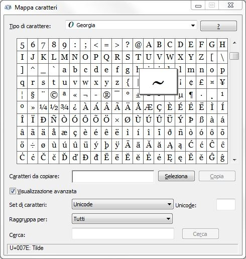 Come digitare la tilde da tastiera sul PC