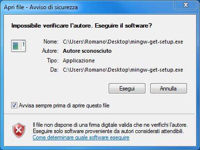 Come installare un compilatore C su Windows