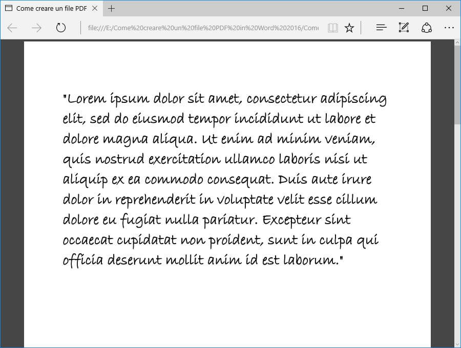Come creare un file PDF con Microsoft Word