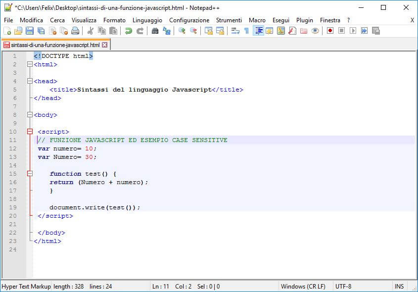 Funzioni in JavaScript