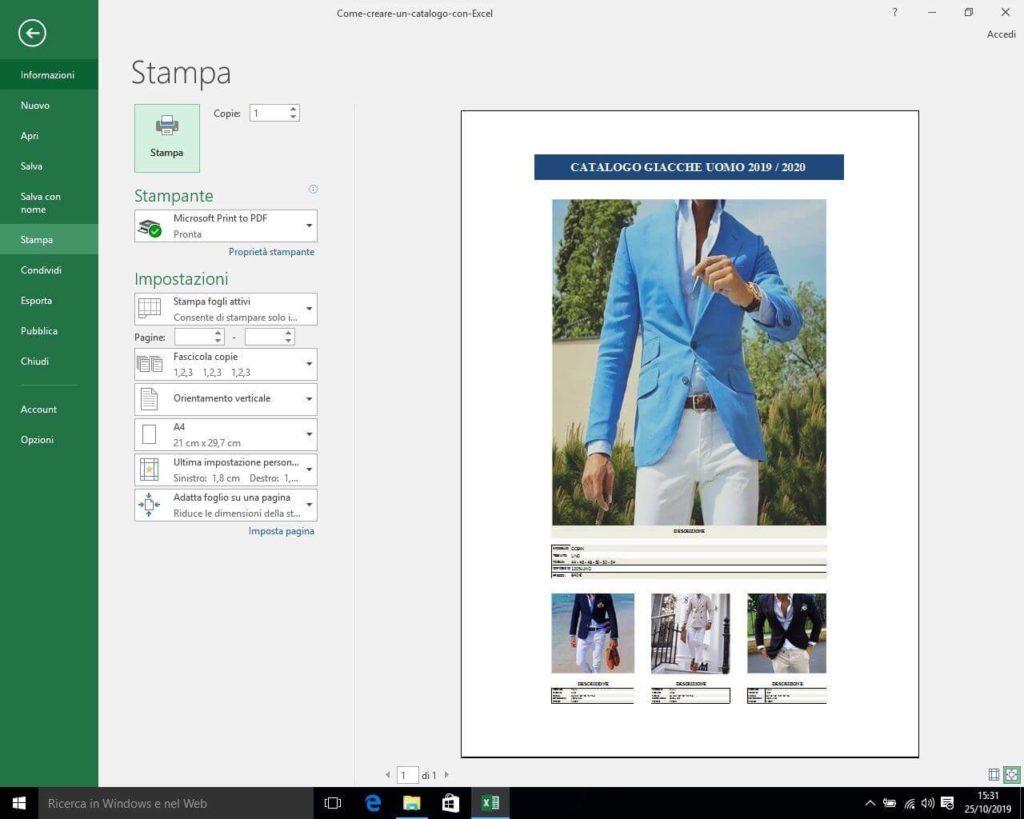 Come creare un catalogo con Excel