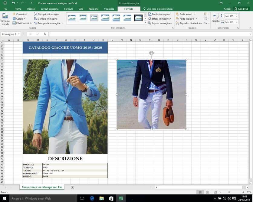 Immagini prodotto in Excel