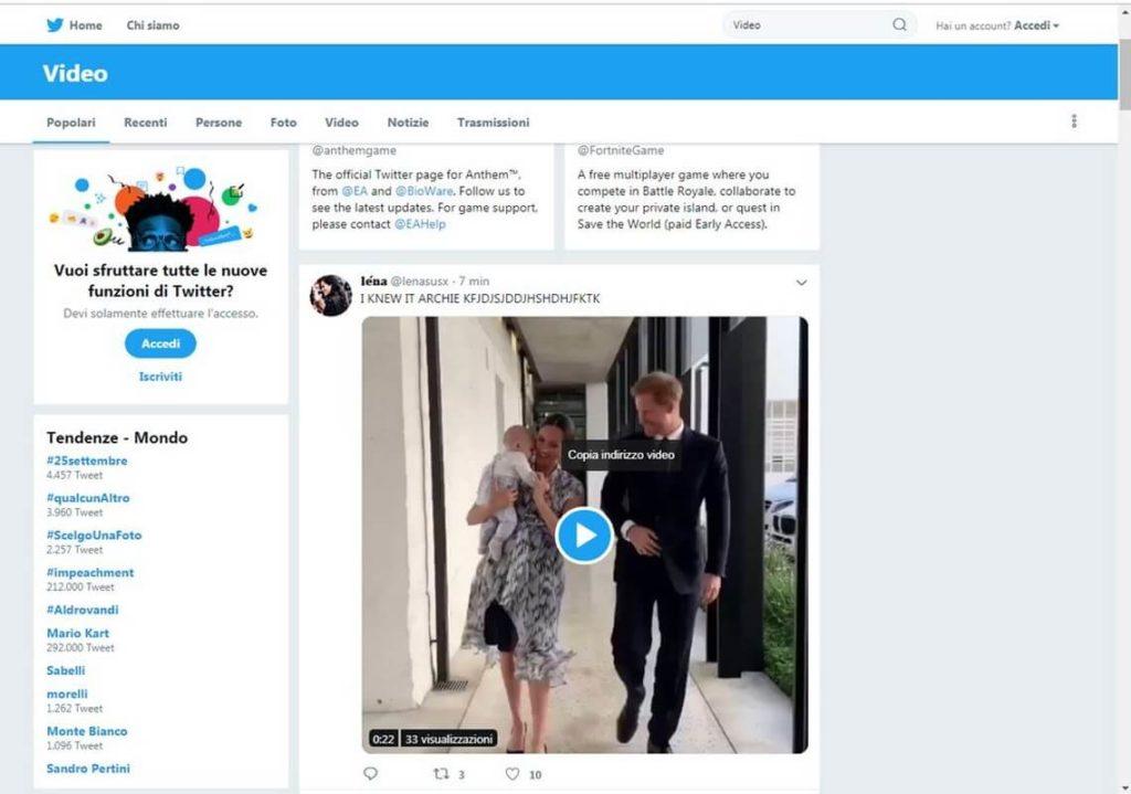 Scaricare un video da Twitter senza programmi