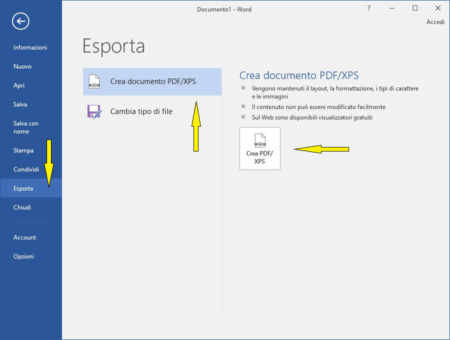 Come creare un file PDF in Windows