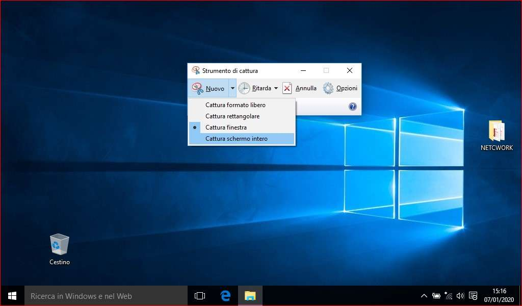 Come fare uno screenshot su Windows