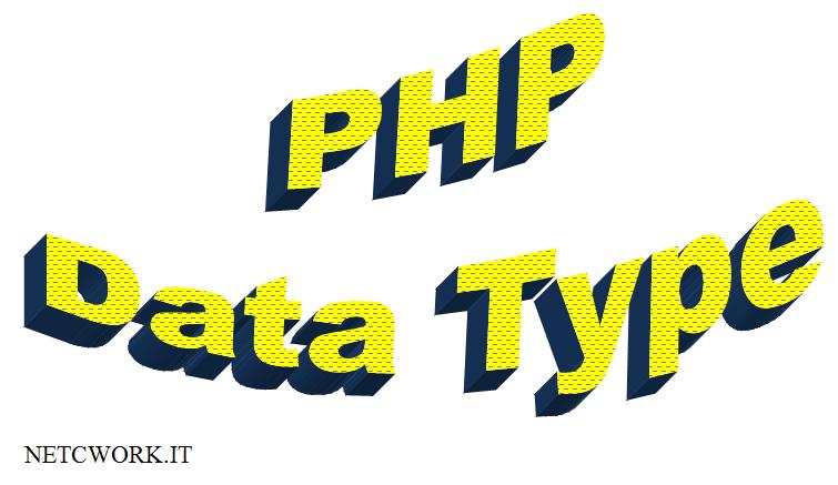 I tipi di dato in PHP