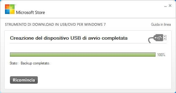 Creare una flash USB di Windows 8