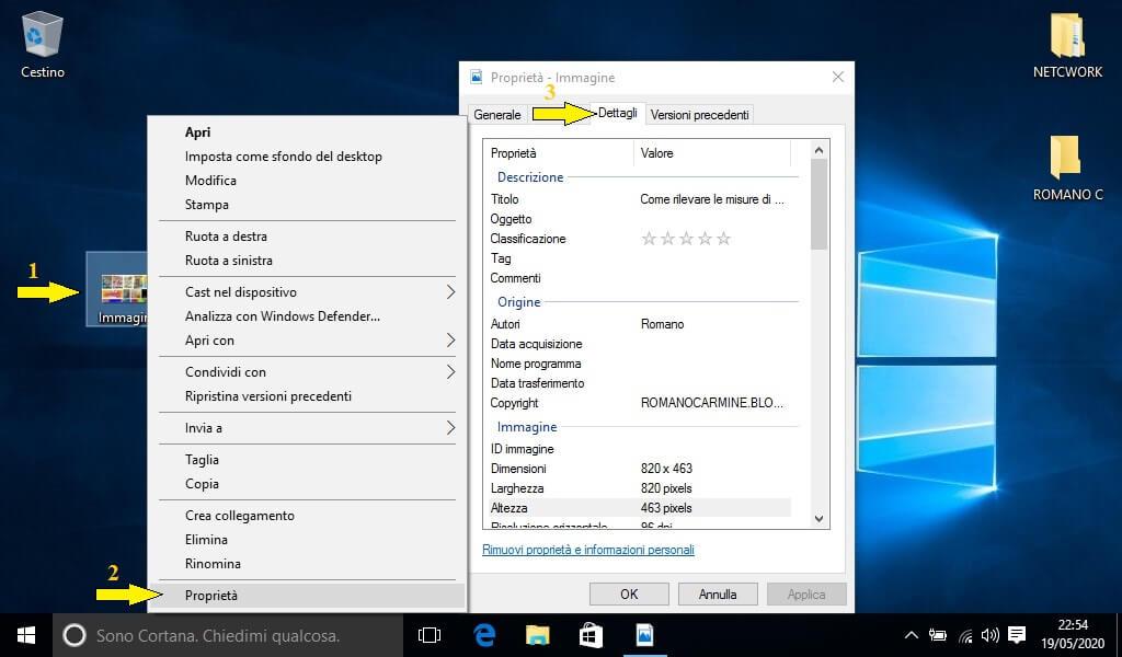 Come misurare un immagine con Windows
