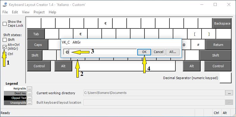 Come digitare il simbolo del copyright in Windows