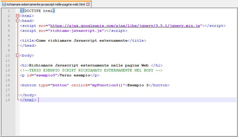 Come inserire JavaScript nelle pagine Web