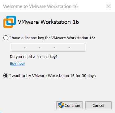 Attivare la versione di prova di VMware