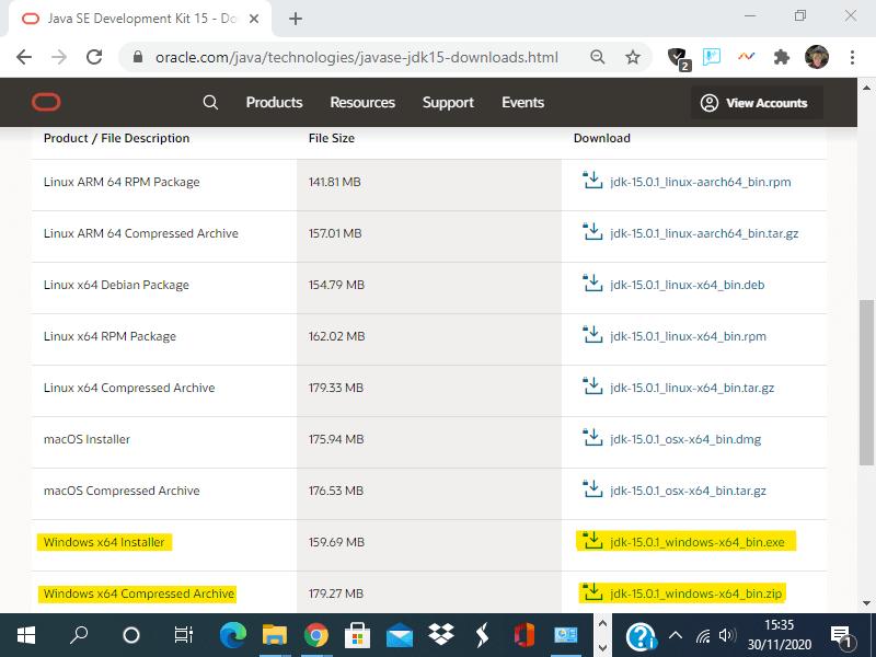 Installare un compilatore java in Windows10