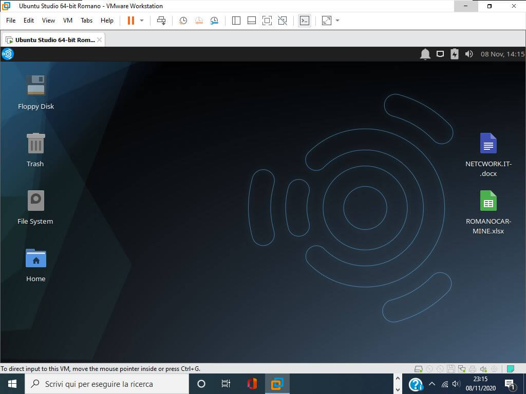 Ubuntu studio su VMware