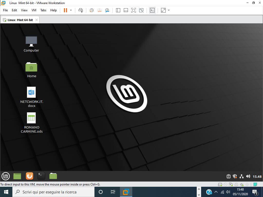 Come installare Linux Mint su VMware