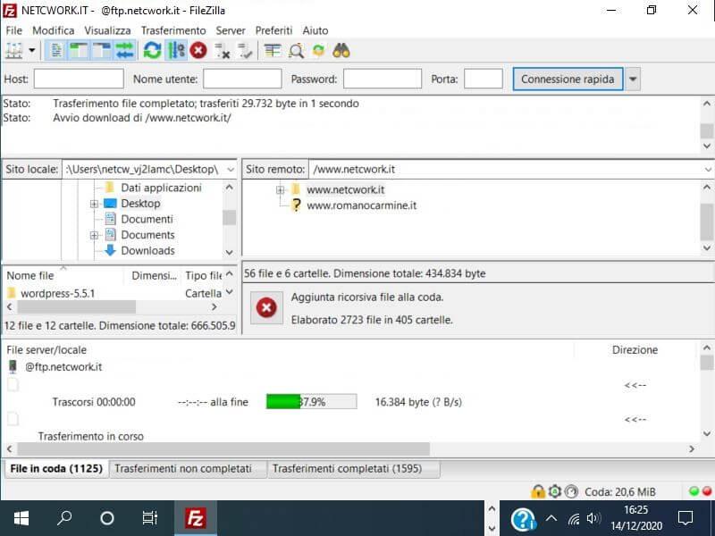 Come scaricare i file dal server