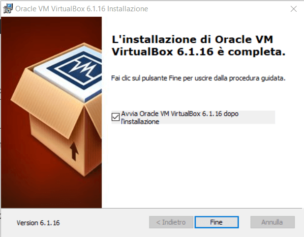 Come installare VirtualBox in Windows
