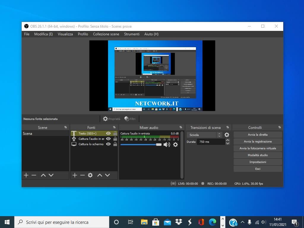 Come registrare lo schermo del computer con OBS