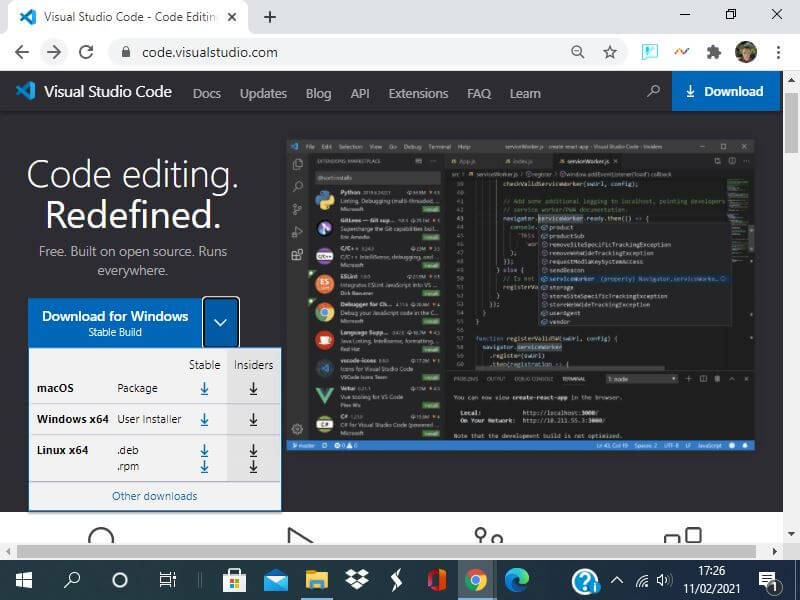 Download Visual studio Code