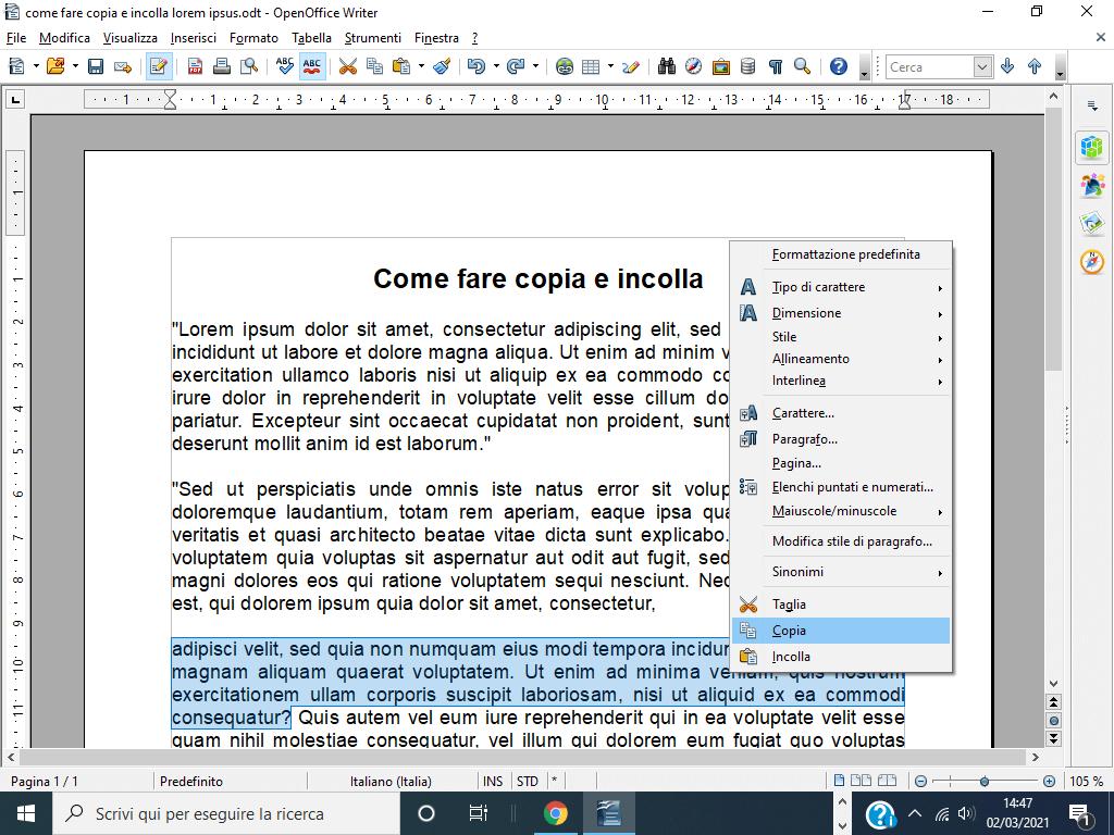 Come fare copia e incolla con Windows