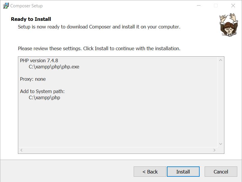 Come installare Composer su Windows
