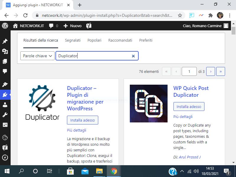 Come creare una copia di un sito WordPress