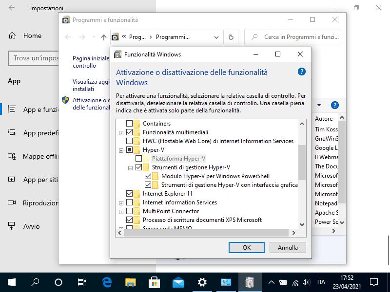 Come abilitare la virtualizzazione in Windows 10 Pro
