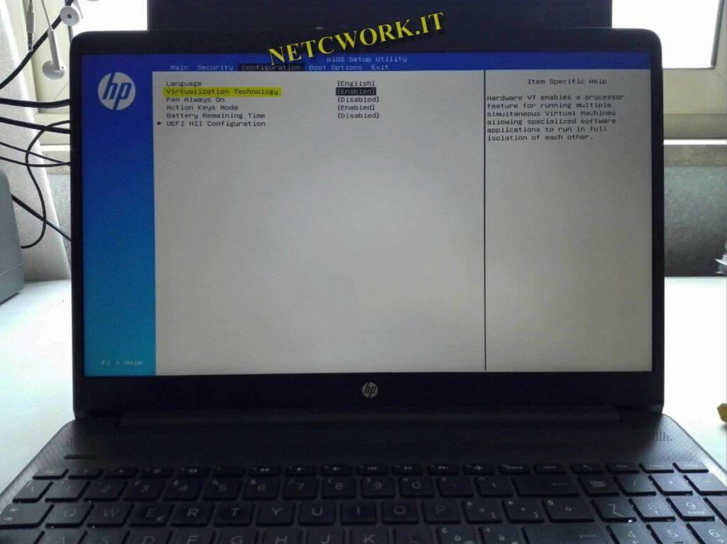 Come attivare la virtualizzazione in Windows 10