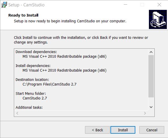 Come installare CamStudio su Windows