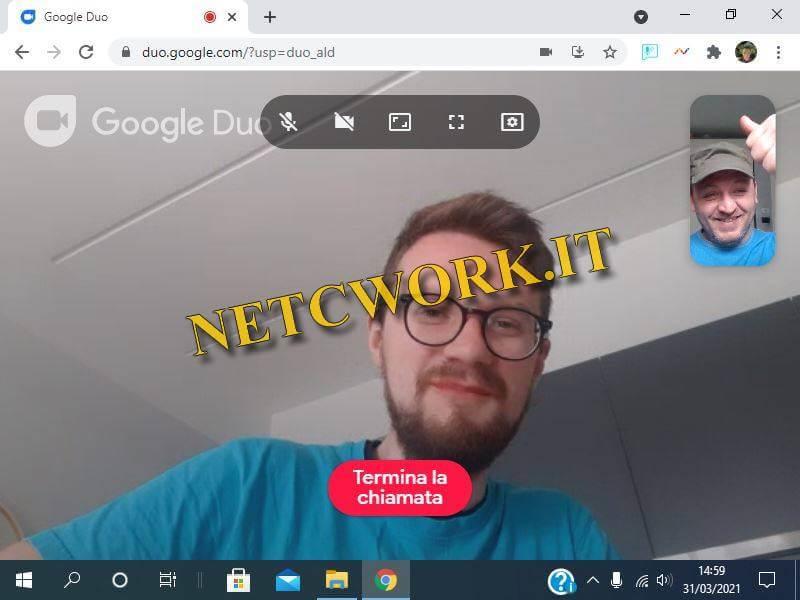 Come fare una video chiamata con Google