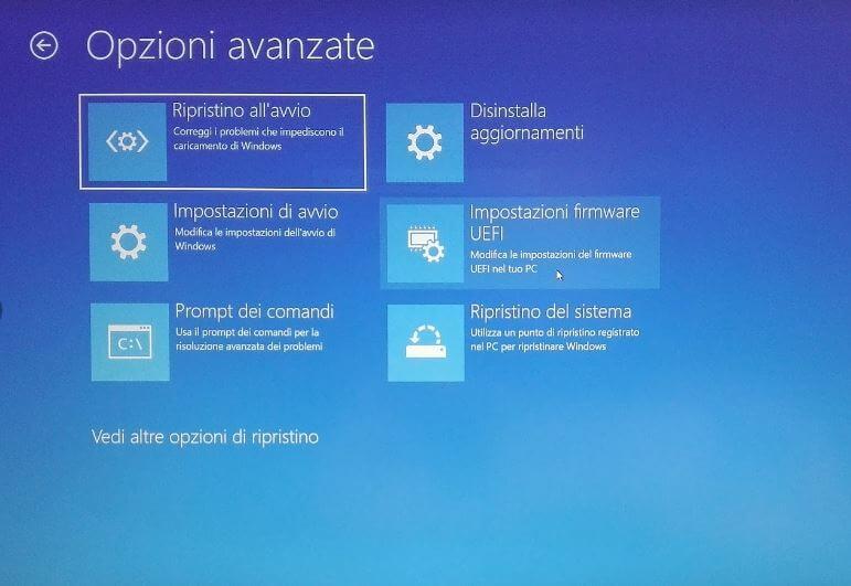 Come entrare nel BIOS di Windows 10