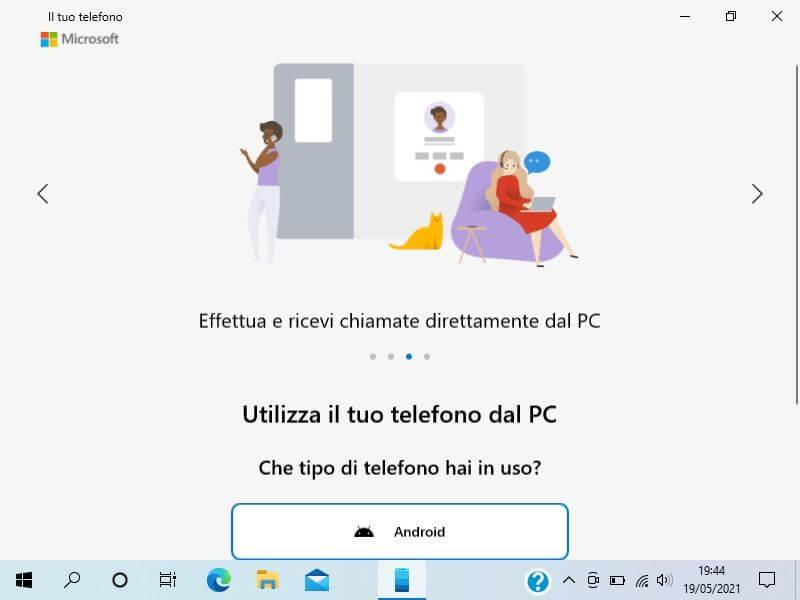 Collegare il telefono al PC