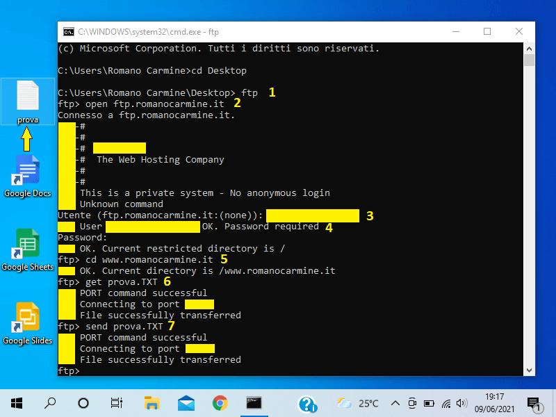Come caricare un file sul server dal CMD