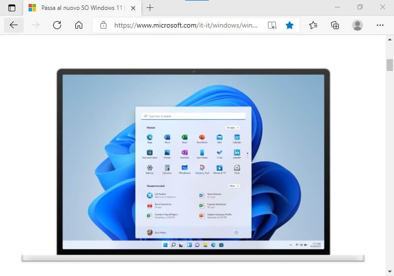 Anteprima Windows 11